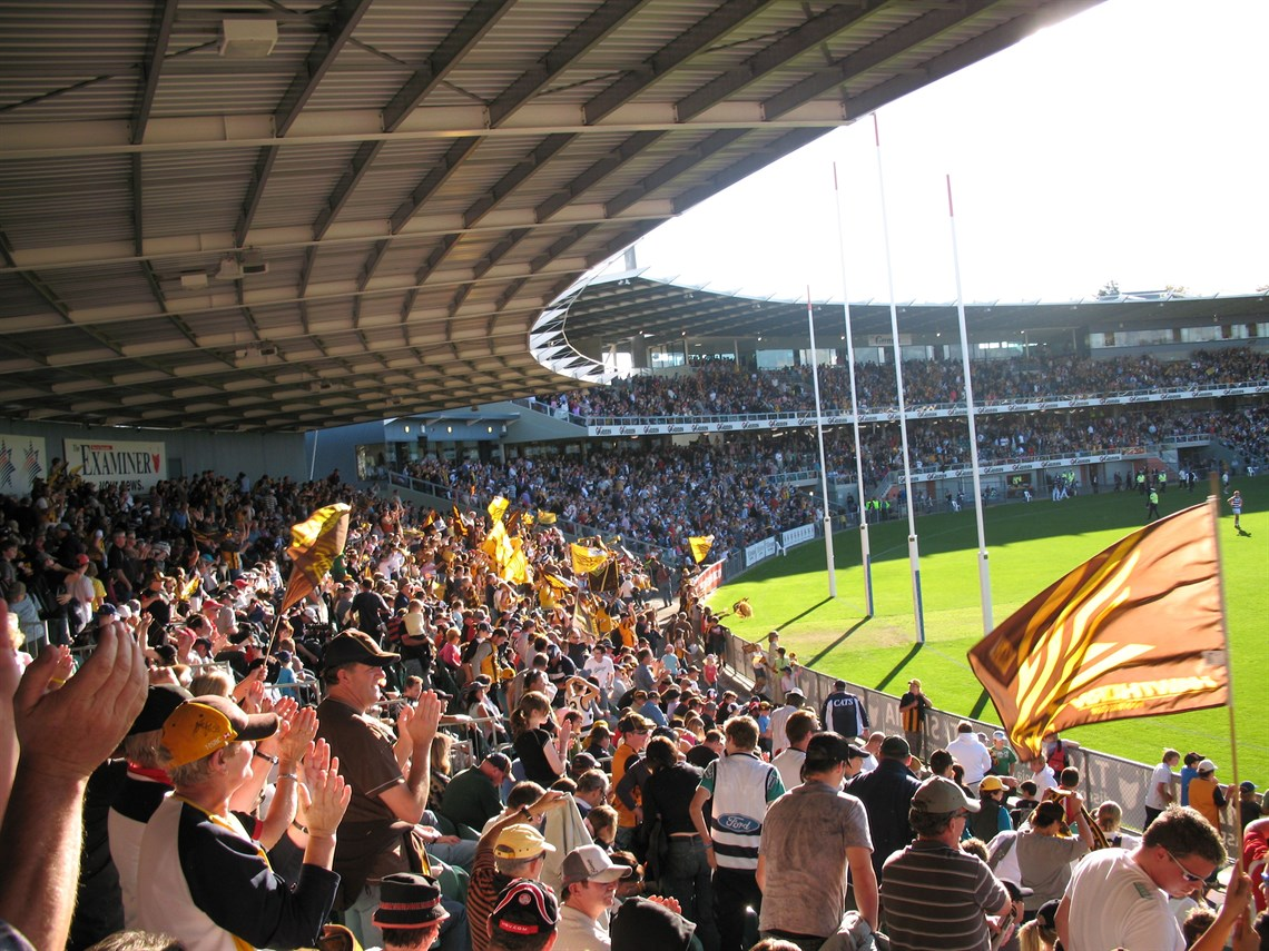Aurora Stadium - Game day in Launceston, the home of the Tassie Hawks.jpg