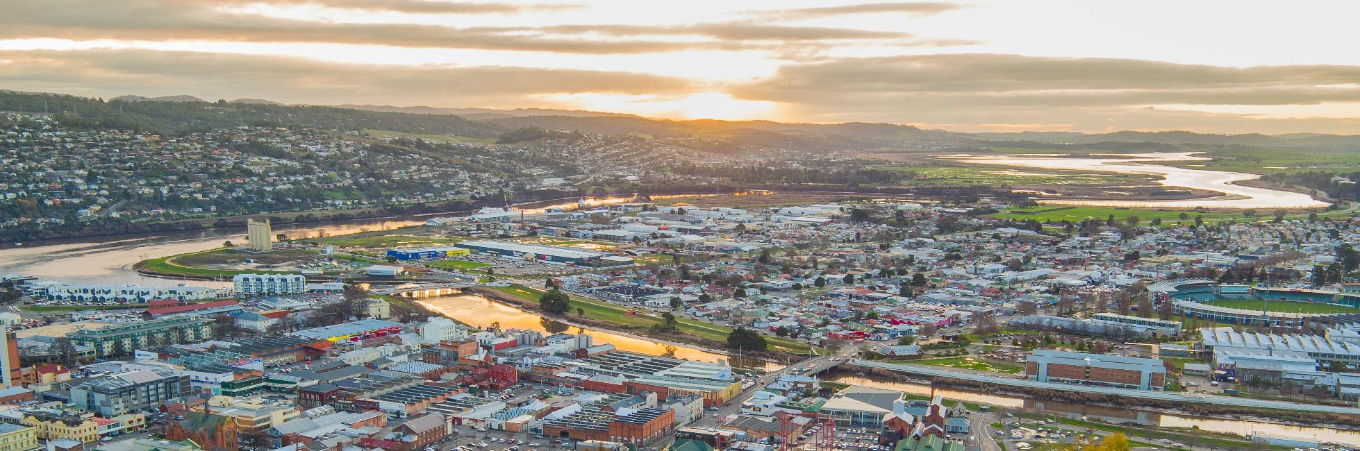 Launceston Aerial Sunrise