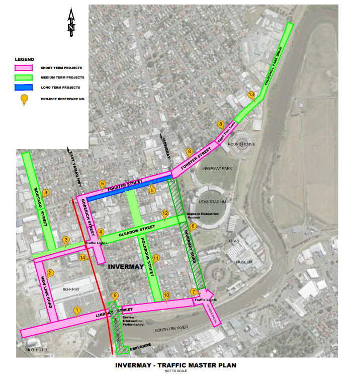 Invermay Master Traffic Plan - Master Map 20189 - City of Launceston.png