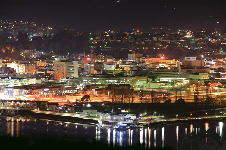 Launceston CBD at night