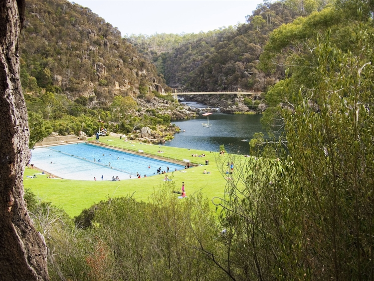 Basin Pool at the Cataract Gorge.